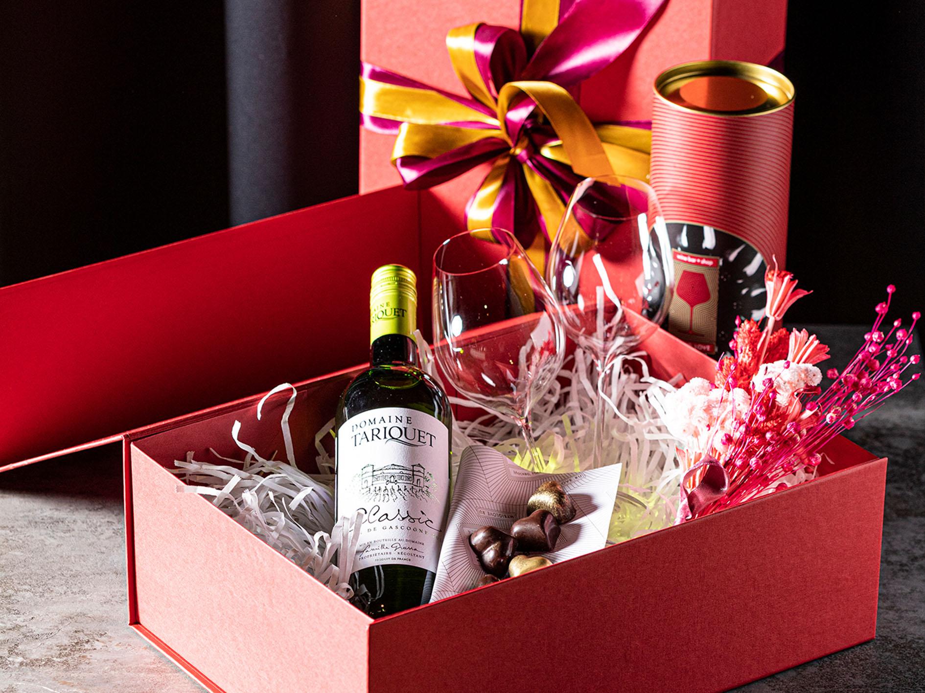 Подарочный набор с белым вином